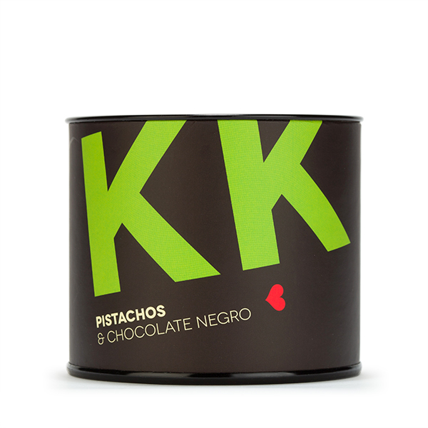kk. Pistachos con chocolate negro