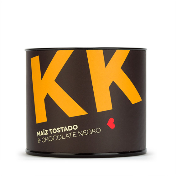 kk. Maiz tostado con chocolate negro